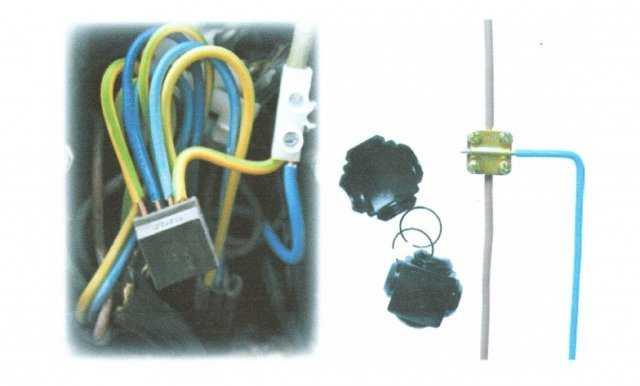Рис. 3. Современные способы соединения проводов при помощи клемм и клеммных колодок Рис. 4. Присоединение провода к...